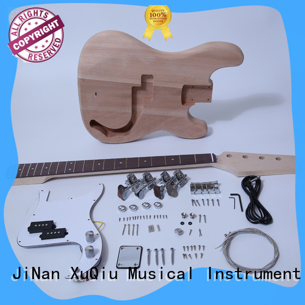 XuQiu unfinished double neck guitar bass kit manufacturer for competition