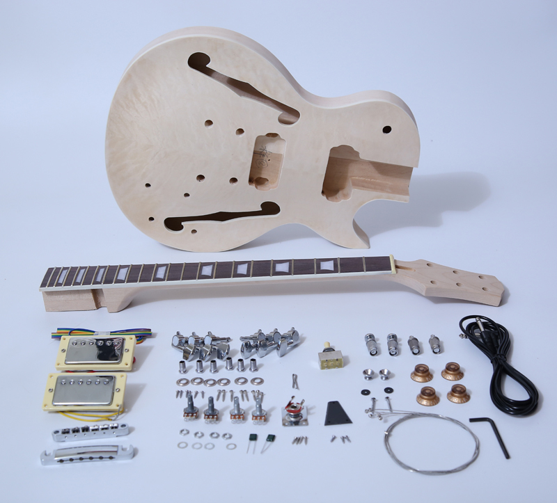 DIY Electric Guitar Kit-Singlecut Semi Hollow Build Your Own Guitar Kit SNGK014