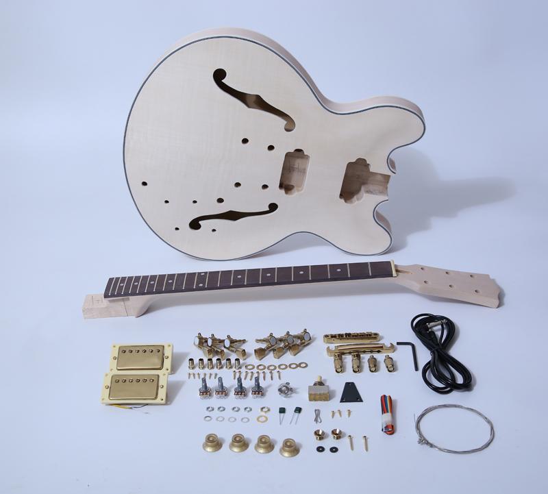 DIY Electric Guitar Kit-335 Style Build Your Own Guitar Kit SNGK015