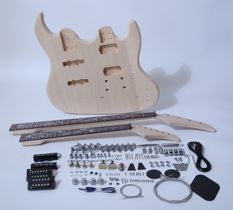 DIY Electric Guitar Kits-Double Neck Guitar and Bass SNGK044