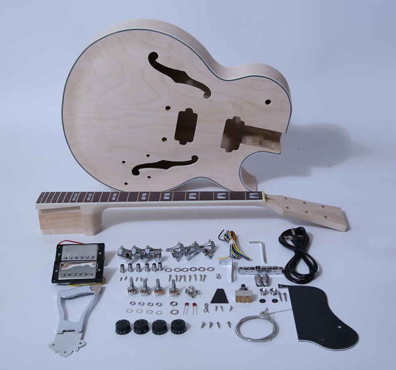 DIY Electric Guitar Kits-175 Style Build Your Own Guitar Kit - Sharp Arch SNGK046