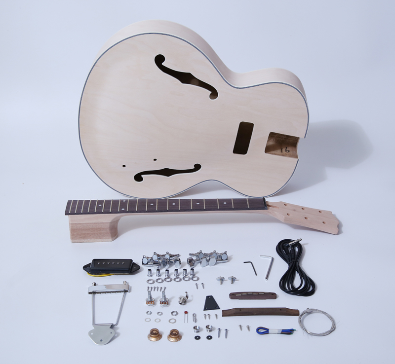 Electric Guitar Kits-Hollow Body Build Your Own Guitar Kit - ES SNGK125