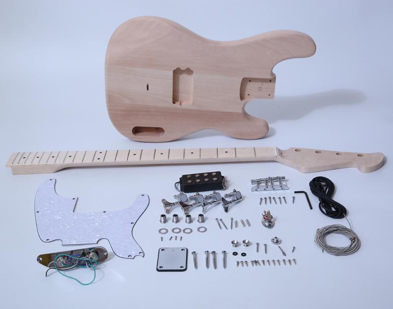 DIY Electric Bass Guitar Kit - 70s TL Bass Build Your Own Bass Kit SNBK006