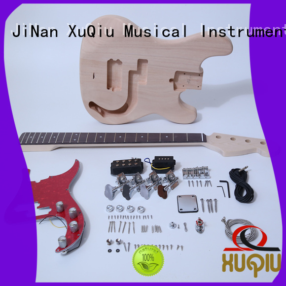 XuQiu unfinished beginner bass guitar kits woodwind instruments for student