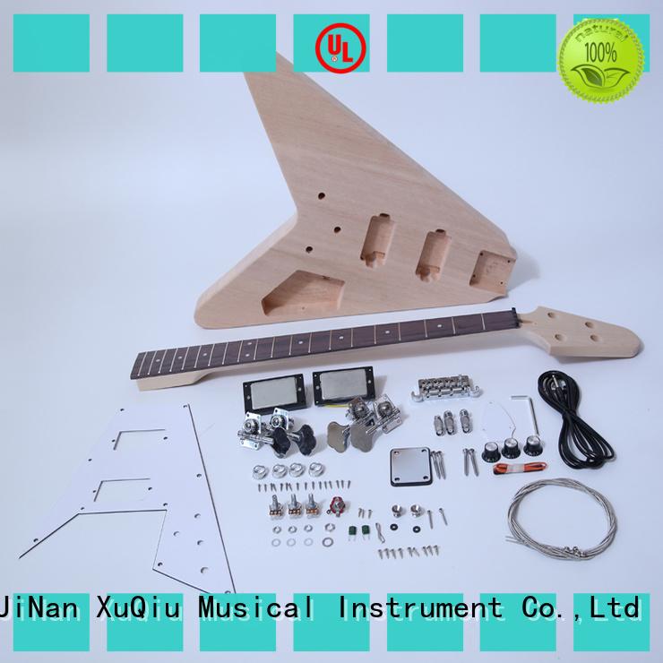 Wholesale diy fretless bass kit 70s woodwind instruments for kids