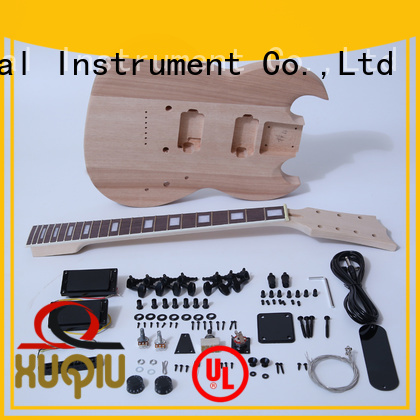 XuQiu cut unfinished guitar kits manufacturer for kids