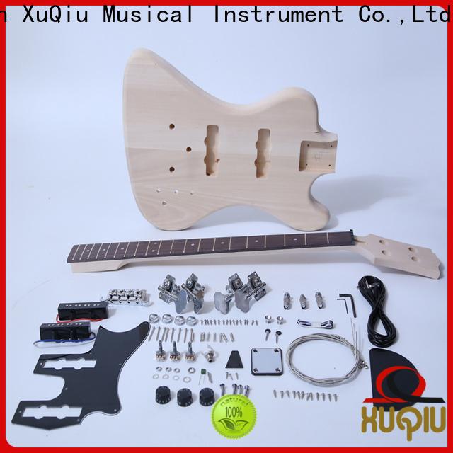 XuQiu custom double neck guitar bass kit manufacturer for beginner