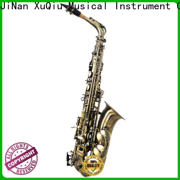 XuQiu silver silver alto saxophone for sale manufacturer for concert