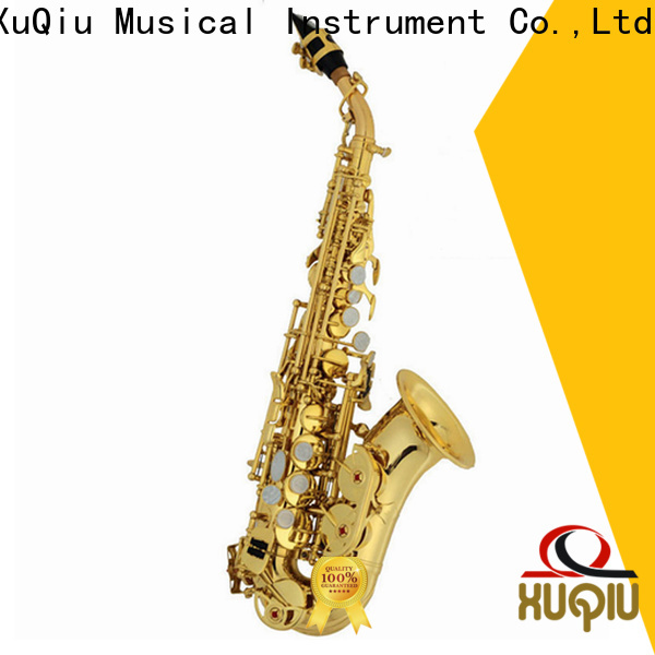 XuQiu curved cannonball curved soprano saxophone makers for student