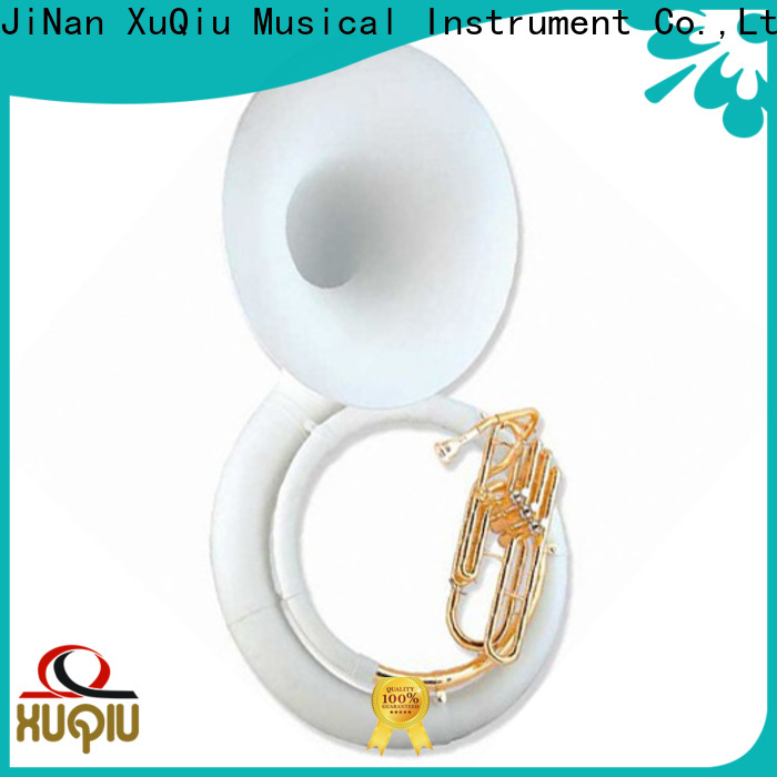 XuQiu instrument silver sousaphone supplier for competition