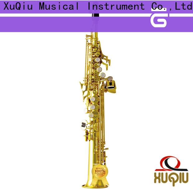 XuQiu straight best soprano saxophone manufacturer for concert