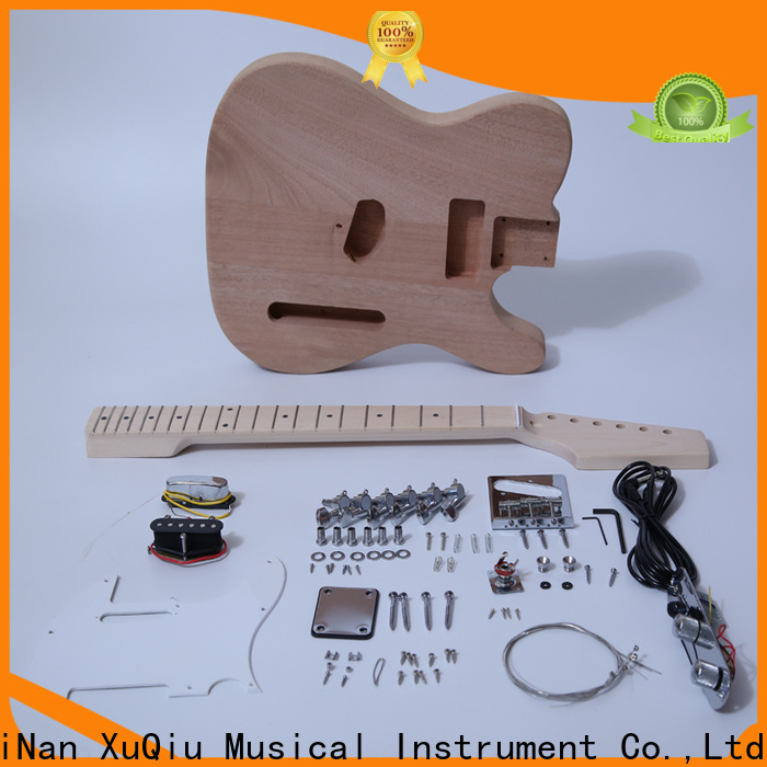 XuQiu unfinished guitar body and neck kits suppliers for kids